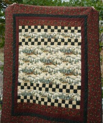 TortugaQuilter: Tree Farm Quilt - 2 Generations Make One Quilt