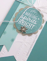Stampin' Up! Among the Branches Winter Christmas Card #stampinup www.juliedavison.com