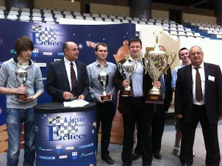 Le Podium de l'Open Fide 2012 avec André Clauzel à droite  - Photo © Chess & Strategy