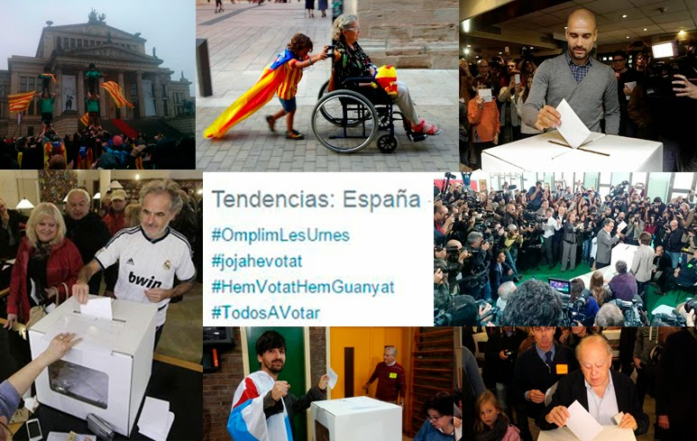 Jordi Pujol, Artur Mas, Guardiola, bandera nacionalista gallega, camiseta del Real Madrid, Berlín