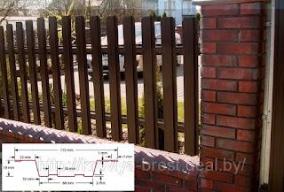 Забор штакетник из профлиста. Фото 6