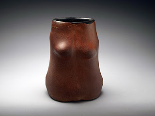 Red Woman Sculpture Pot - Lori Buff