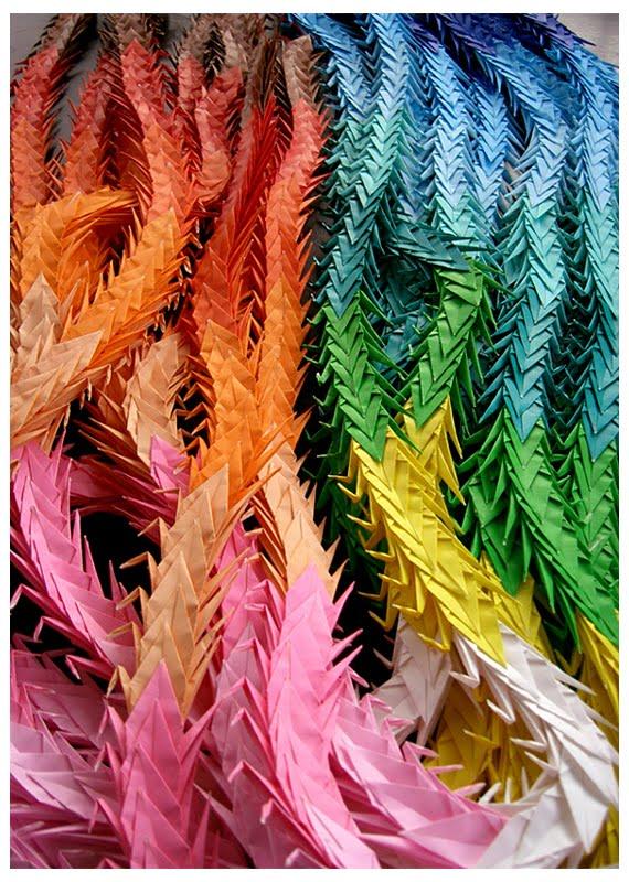 Yukari sweeney design one thousand paper cranes for 1000 paper cranes wedding decoration