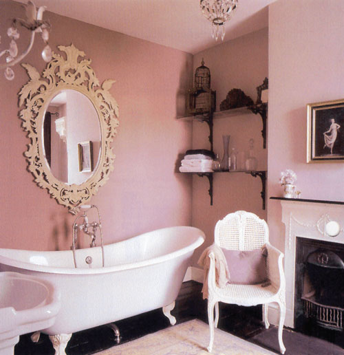 Small moments decorating inspirations pink bathrooms - Pink bathtub decorating ideas ...