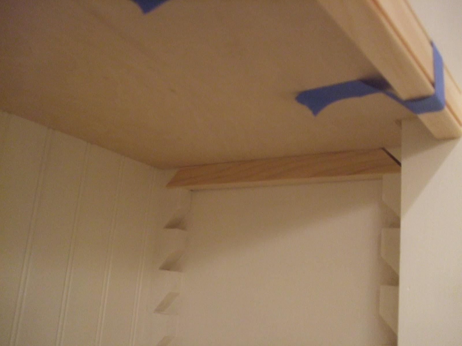 . The Smiths  Bathroom Closet Shelves