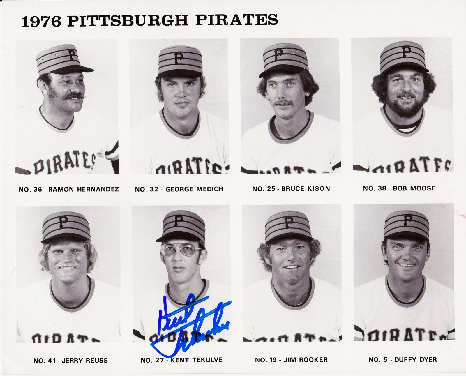 1976 Pittsburgh Pirates- Bob Moose, etc