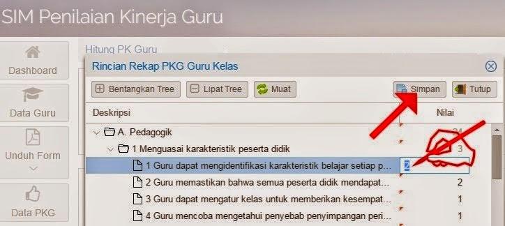 Cara Mudah Input Nilai PKG pada SIM PKG