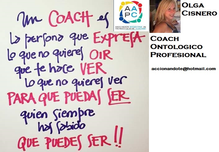 Coach Ontológico Profesional- Olga Cisnero