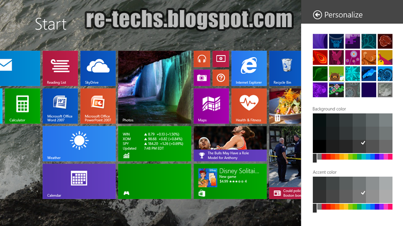 Cara Mengganti Background Start Menu Windows 8