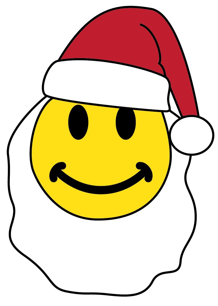 Santa Hat And Beard Template Smiley face santa with a beard