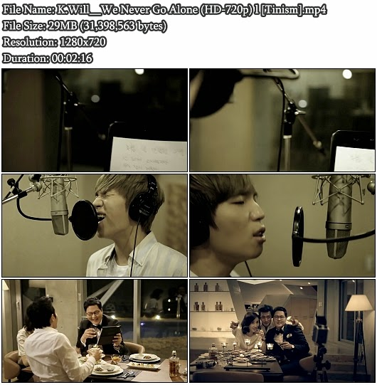 Download MV K.Will (케이윌) - We Never Go Alone (지금처럼) (HD 720p)