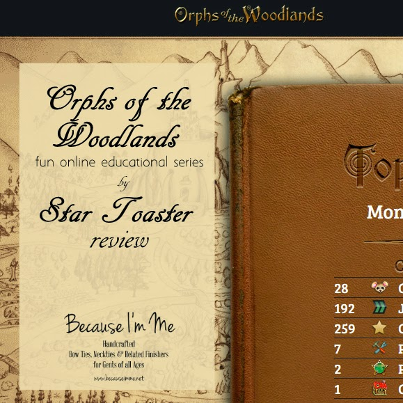 review of Star Toaster's Orphs of the Woodlands series, online game with learning for grades 4-7
