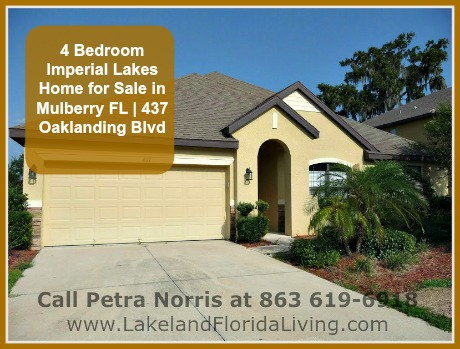Living In Lakeland Florida 4 Bedroom Imperial Lakes Home For Sale In Mulberry Fl 437