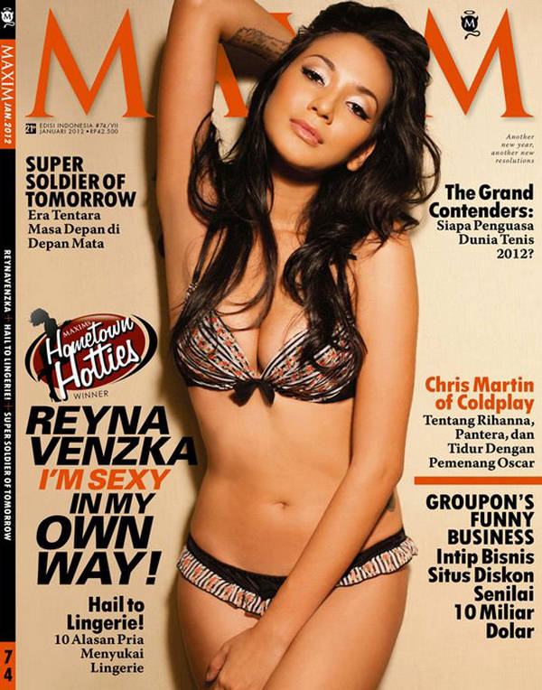 Reynavenzka poses for Maxim Indonesia January 2012