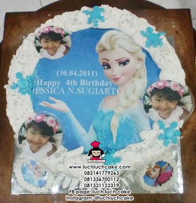 Kue Tart Frozen Elsa