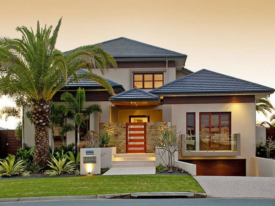 Home decor 35 exterior home design simple but luxury for Simple house exterior