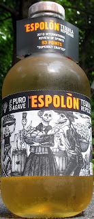 Espolon Tequila Reposado has a beautiful color