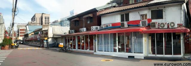 Barrio de prostitución de Seúl de día