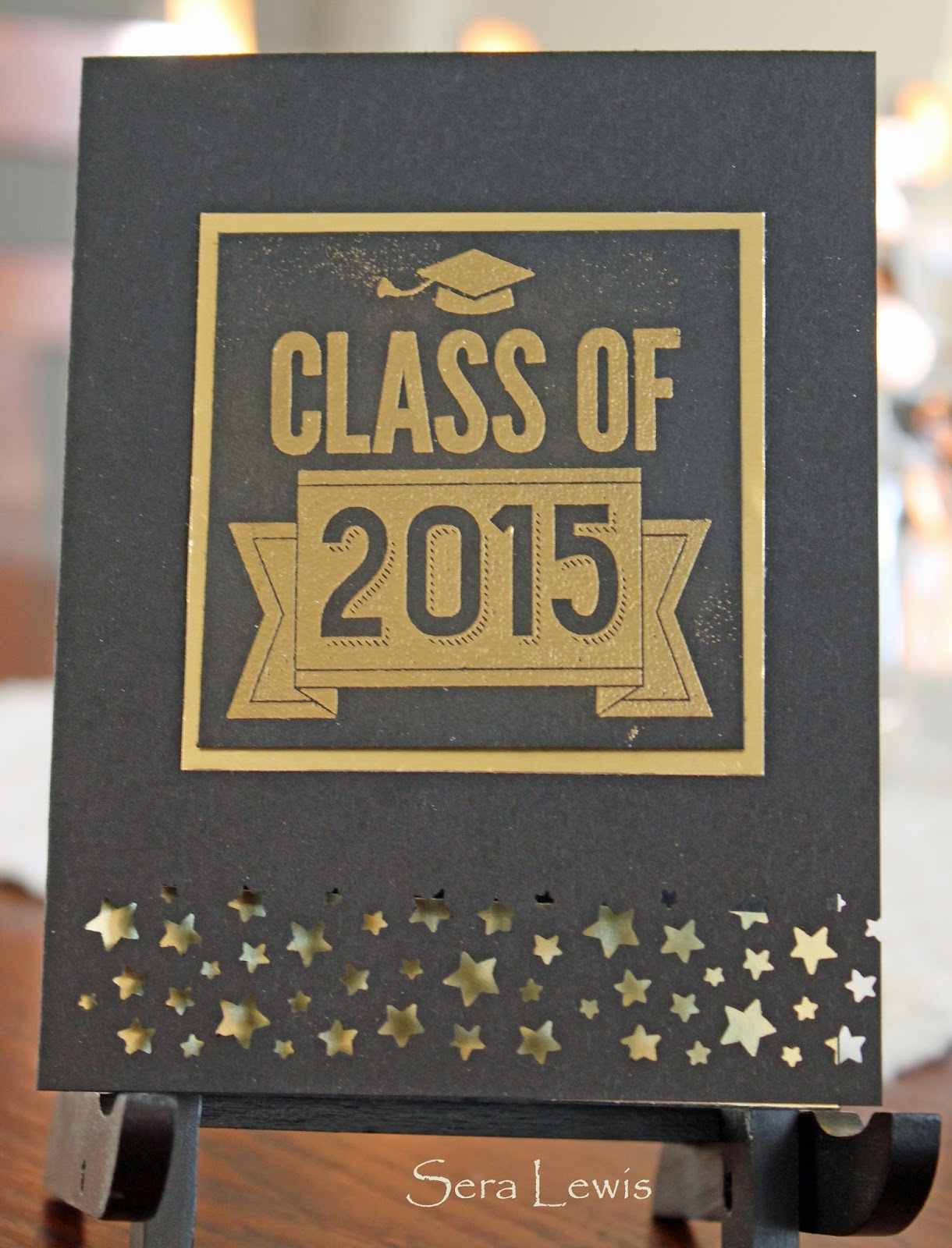 This graduation card uses the Stampin' Up! Class of 2015 stamp.