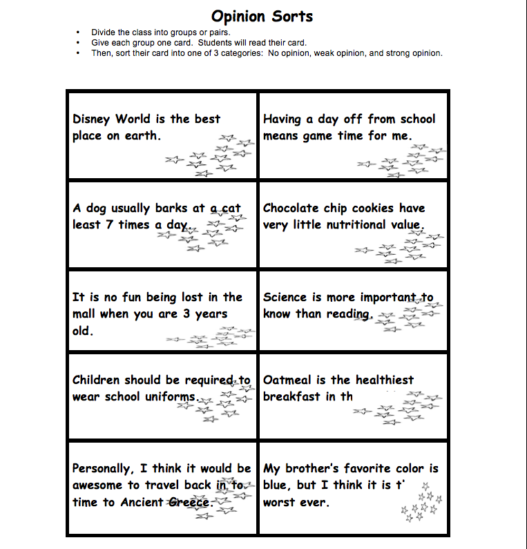 Opinion/Argument Writing Packet - Birmingham City Schools