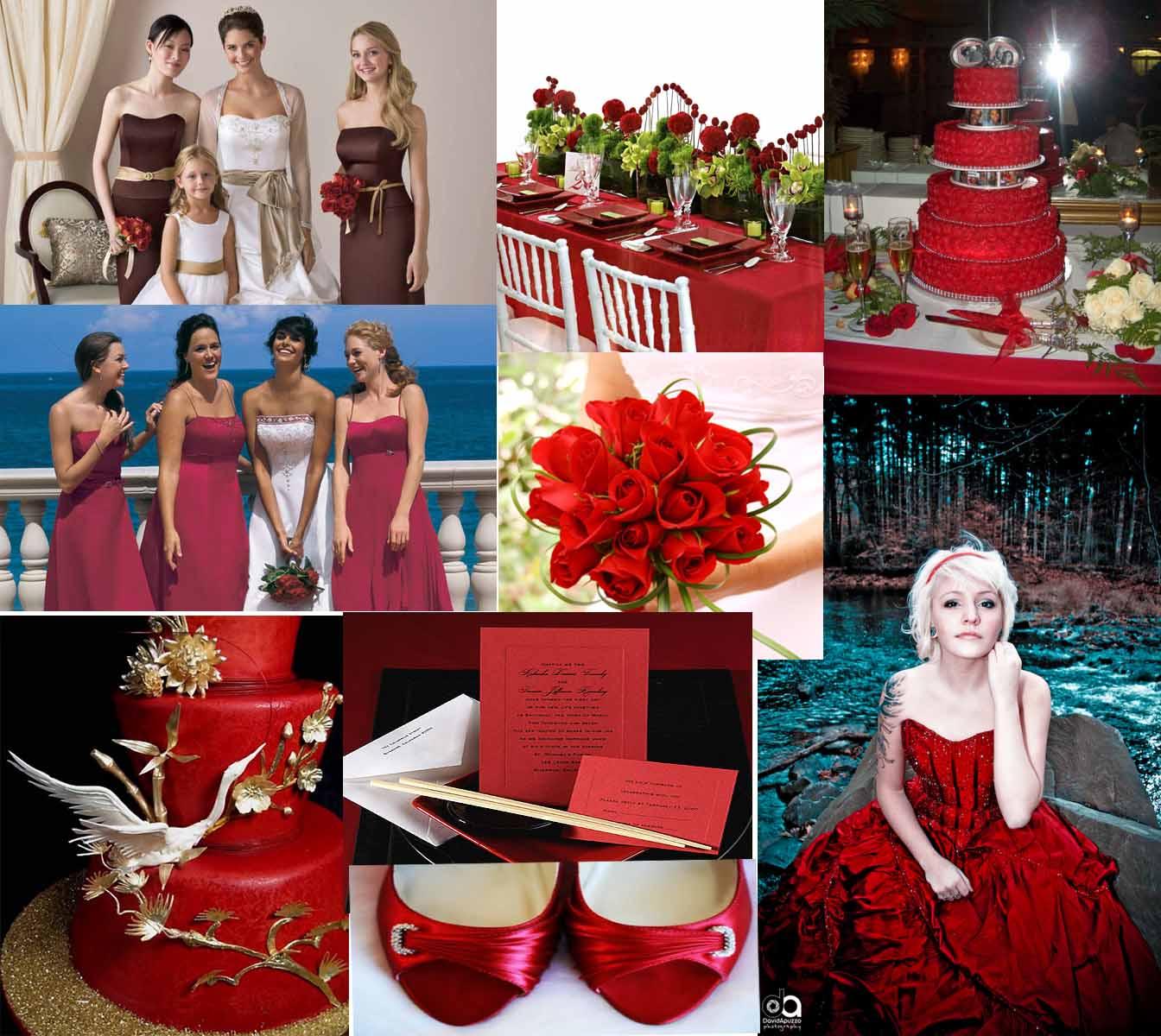 ideas table Red red runner  Wedding: ideas Alternative wedding