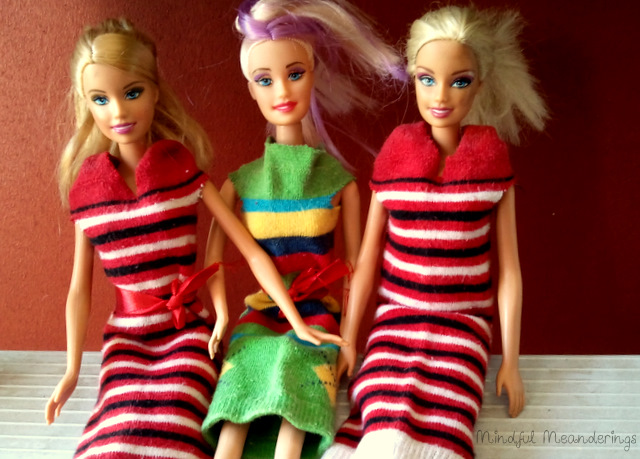 no Sew Barbie Sock Dress