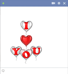 Love you balloons - Facebook sticker