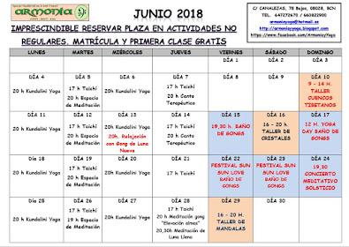 ACTIVIDADES JUNIO 2018