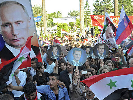 """Thank You, Russia!"" - Rally of support for Russian operations was held in Homs"