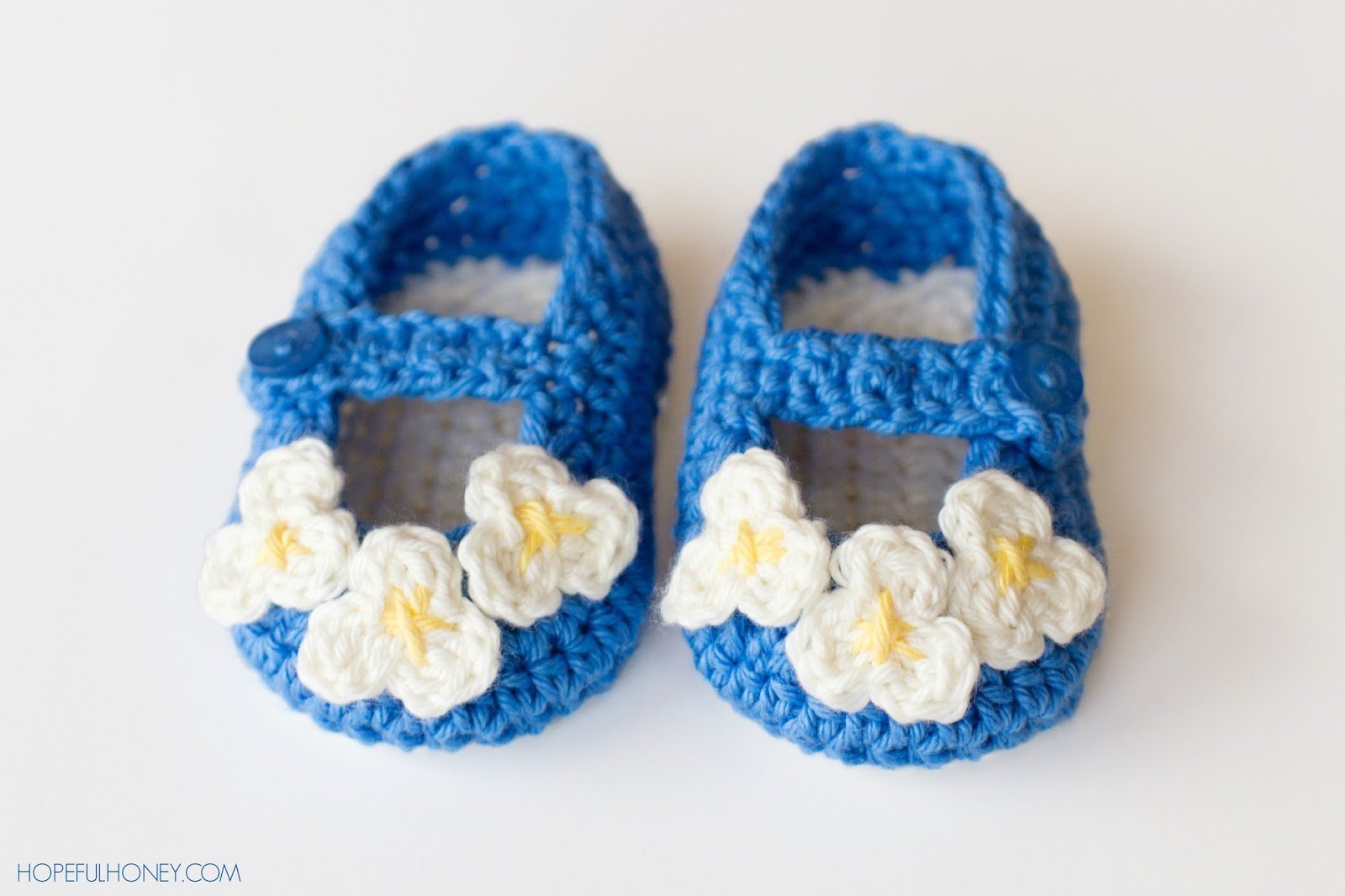 Free Crochet Patterns For Baby Booties Mary Janes : Hopeful Honey Craft, Crochet, Create: Vintage Mary Jane ...