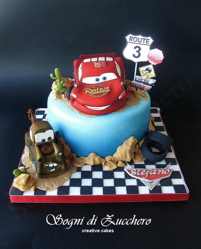 sogni di zucchero: Disney cake: Saetta Mcqueen