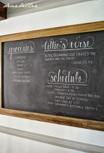 Dear Lillie An Oversized Chalkboard and Bench In the Kitchen