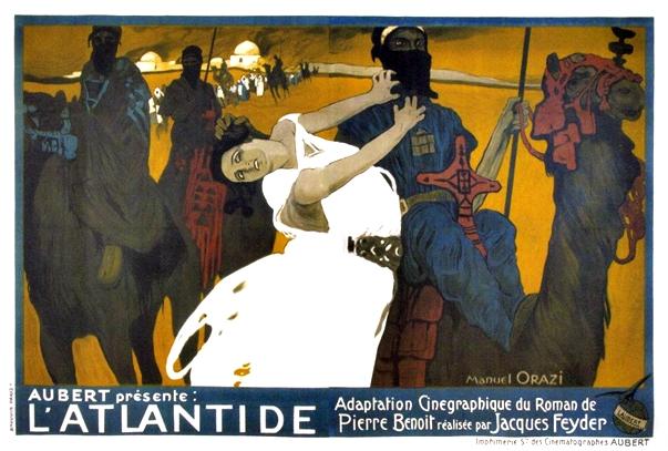 Póster: La Atlántida (Jacques Feyder, 1921)