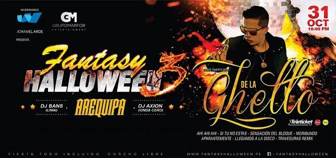Halloween Fantasy 3 con De la Guetto en Arequipa - Venta de entradas - 31 de octubre