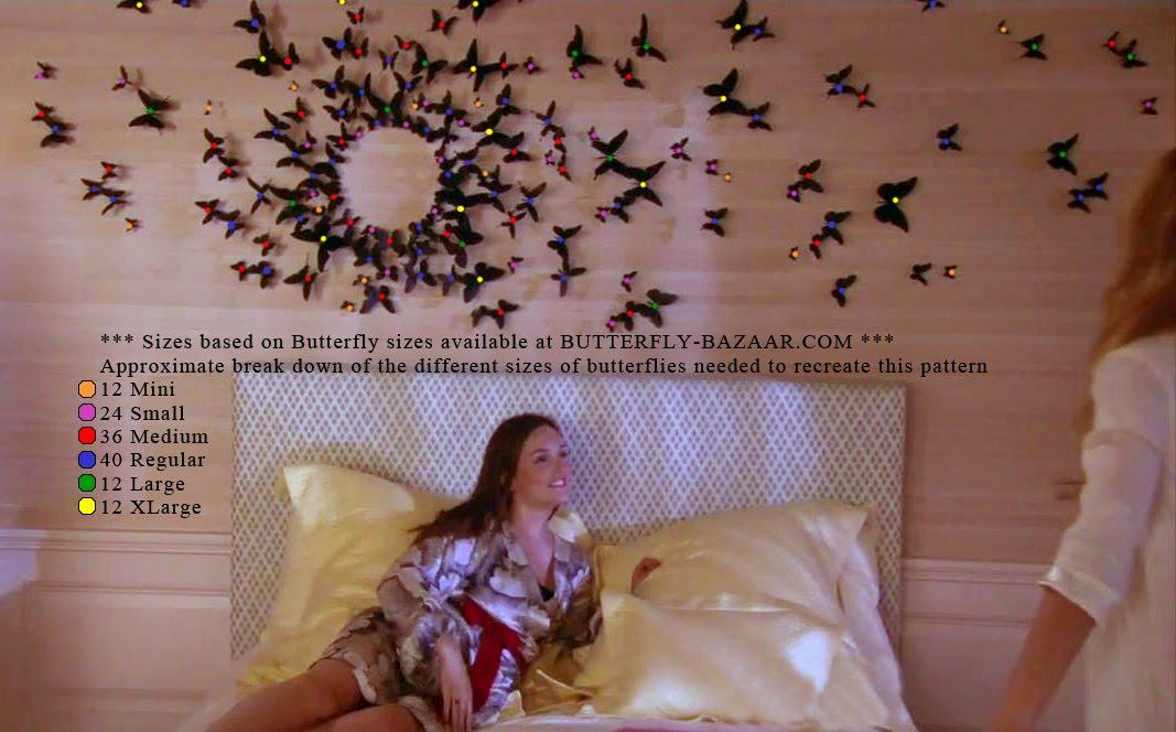 Black Butterfly Wall Decor Gossip Girl : Butterfly bazaar serena s quot gossip girl art