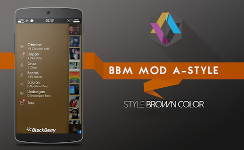 download BBM Mod A-Style Brown New Version 2.7.0.23