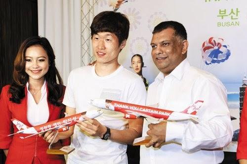 Park Ji Sung Duta Global Syarikat Penerbangan Air Asia