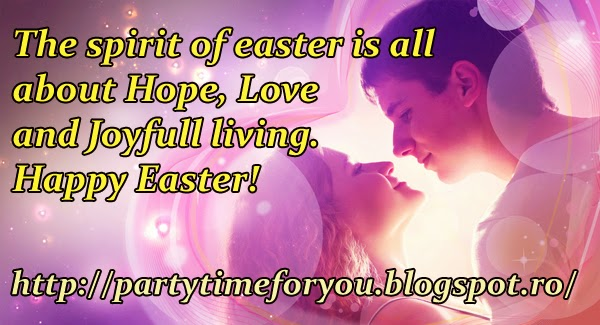 The spirit of easter is all about Hope, Love and Joyfull living.Happy Easter!
