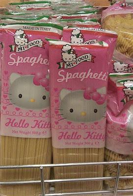 Hello Kitty spaghetti pasta