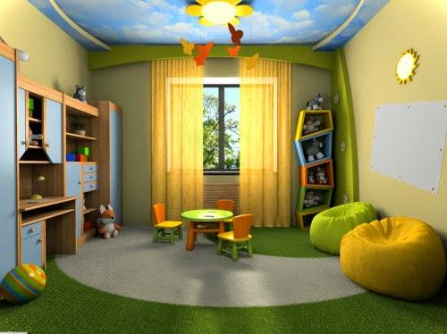 spacious childrens bedroom decorating ideas