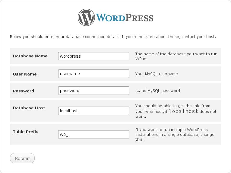 Arafa Daming - Wordpress Configuration