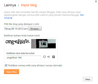 Cara Back Up Semua Isi Posting Blog