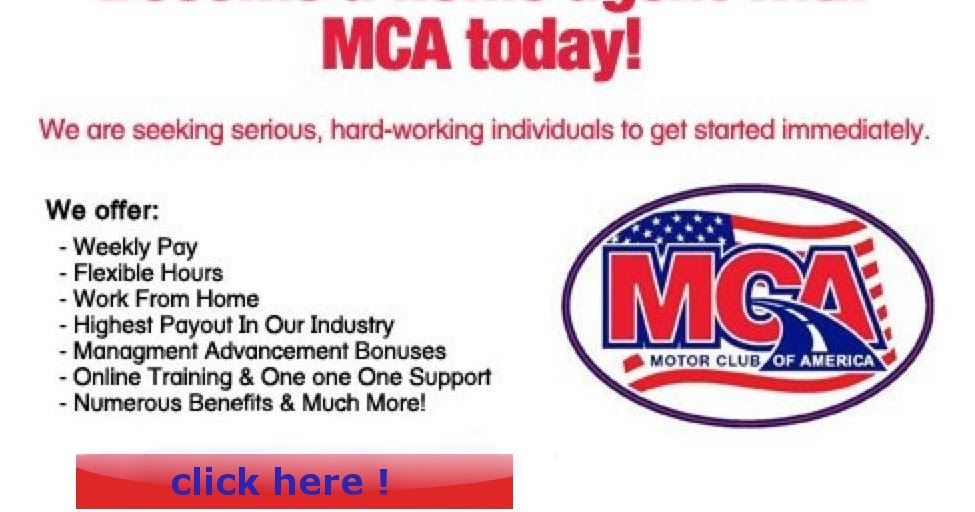 Mca Money Making Opportunity Motor Club Of America Last