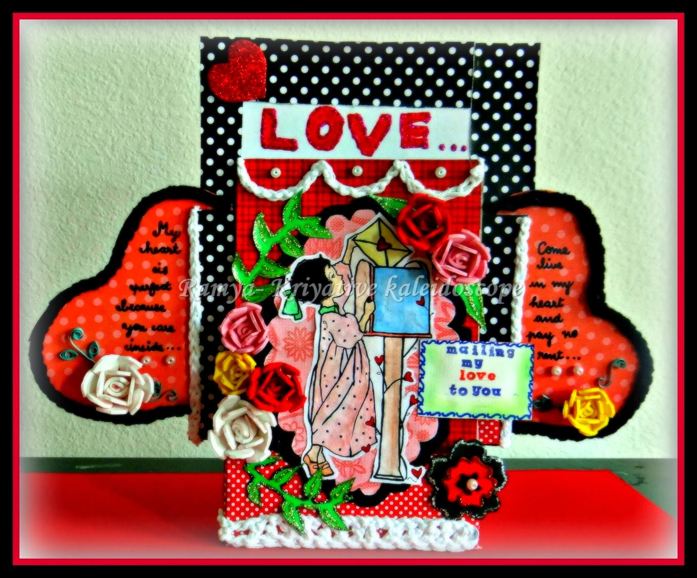 Kriya Tive Kaleidoscope Mailing My Love 3d Greeting Card