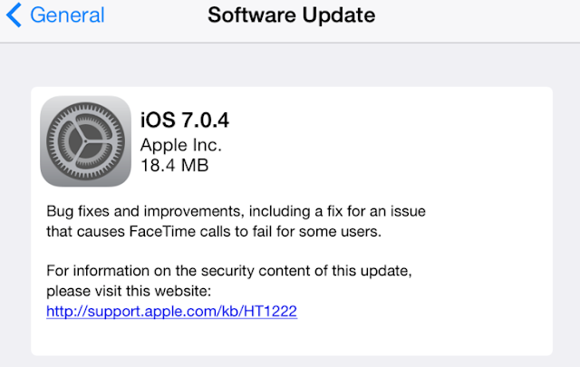 Apple releases iOS 7 patch for Apple Store vulnerability, but dont download the 7.0.4 patch yet if you intend to jail break your iPhone