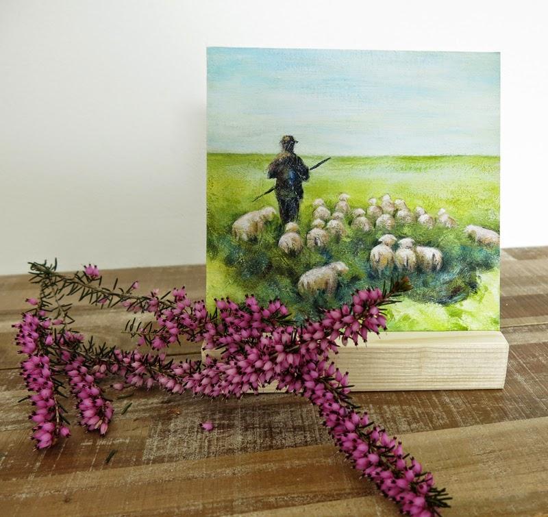 kunst mini schilderij moederdag cadeau, sinterklaascadeau, vaderdagcadeau, kerstcadeau Atelier for Hope Doetinchem