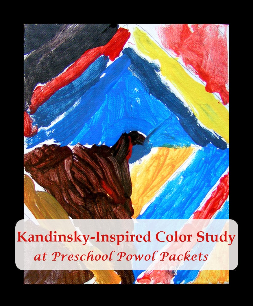 kandinsky inspired diamond painting color studies with kids - Color Painting For Kids