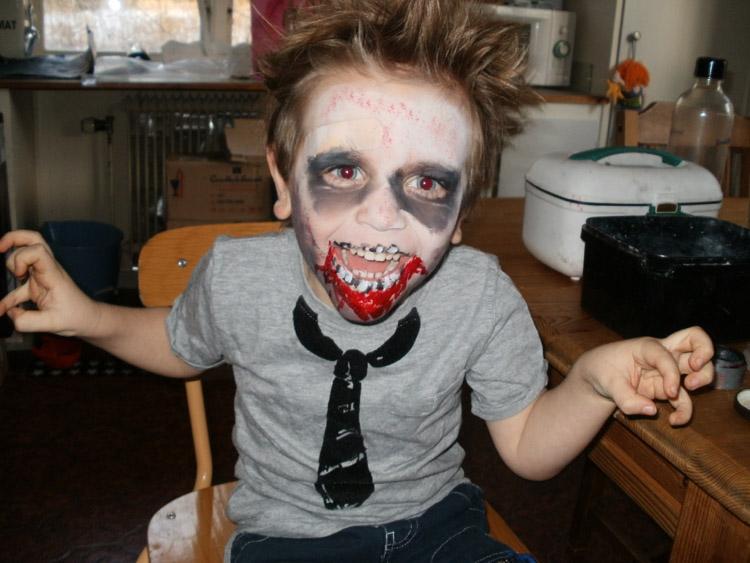 sminka som zombie