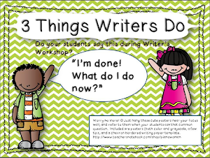 3 Things Writers Do Posters