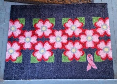carpet one cancer awareness dogwood welcome mat 1